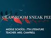 FPE Sneak Peek - Middle School - 7th Literature