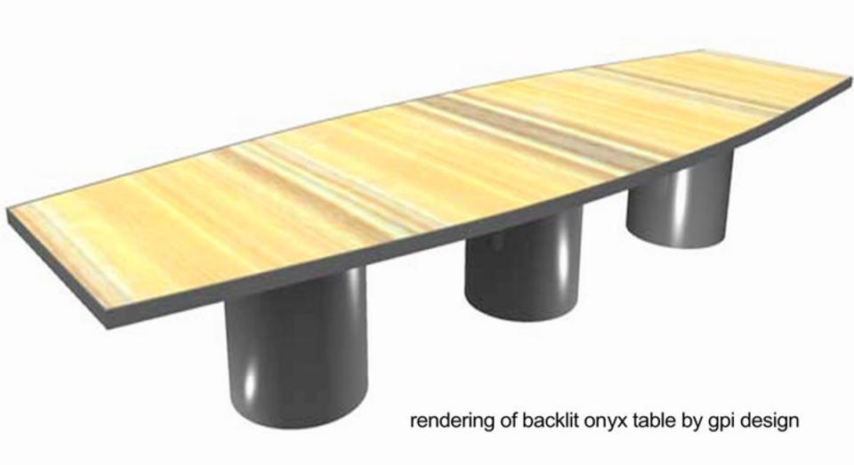Custom Backlit Onyx Dining Table By GPI Design On Vimeo