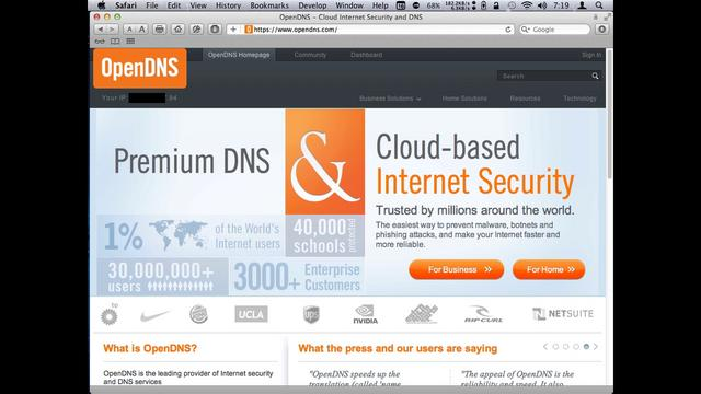 Configuring OpenDNS