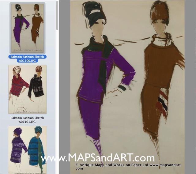 French Fashion Sketches