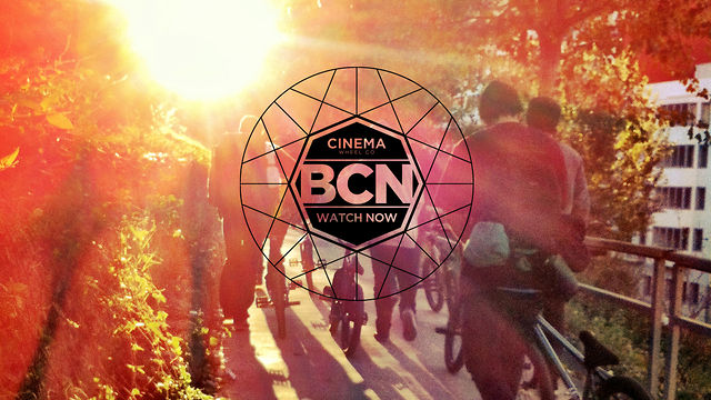 The CINEMA BMX Team Riding in Barcelona, Spain