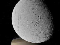 Flight over Enceladus