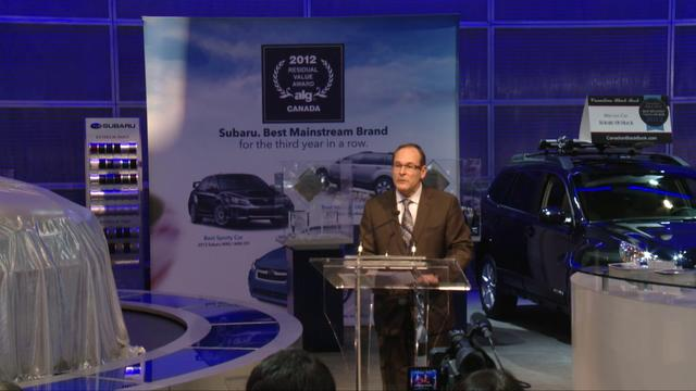 SUBARU Press Conference at the Toronto AutoShow 2012