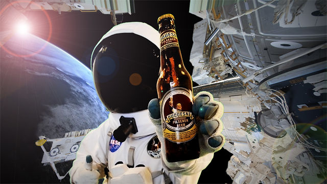 astronaut drinking beer in space - photo #25