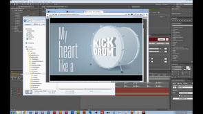 Kick drum heart with 3D Extruder and iExpressions in After Effects