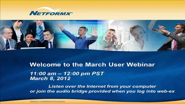 March 2012 User Webinar