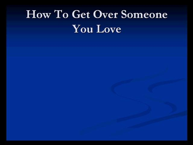 reddit how to get over someone