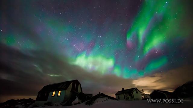 Aurora Timelapse. Fire in the sky.