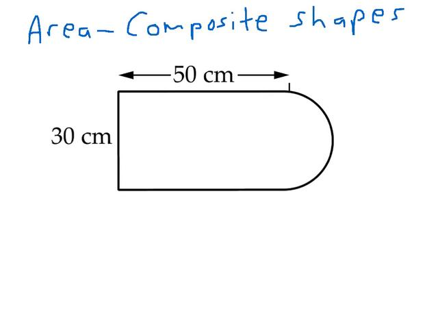 how to find area of composite shapes