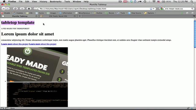 Webmaster - Terminando de maquetar una web con estilos y css