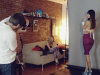 BEHIND THE SCENE WITH YANN FERON for UNVOGUE magazine editorial march 2012