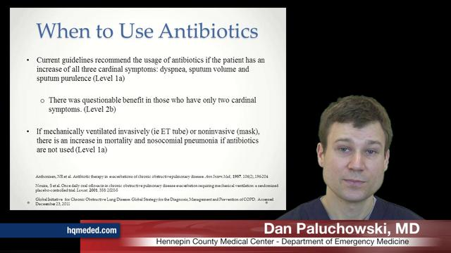 Antibiotics in COPD