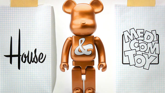 House Industries Medicom Toy and Be@rbrick Anniversary Logo Design