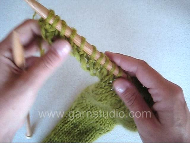 DROPS Knitting Tutorial: How to cast on new stitches at an edge on Vimeo