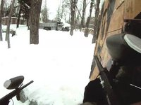 Snowy paintball