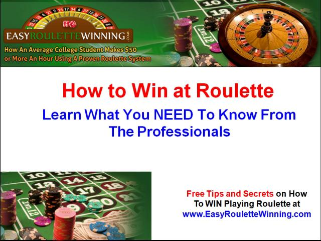 how to win playing roulette strategy