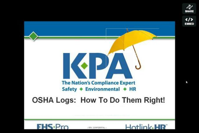 OSHA Logs: How To Do Them Right!
