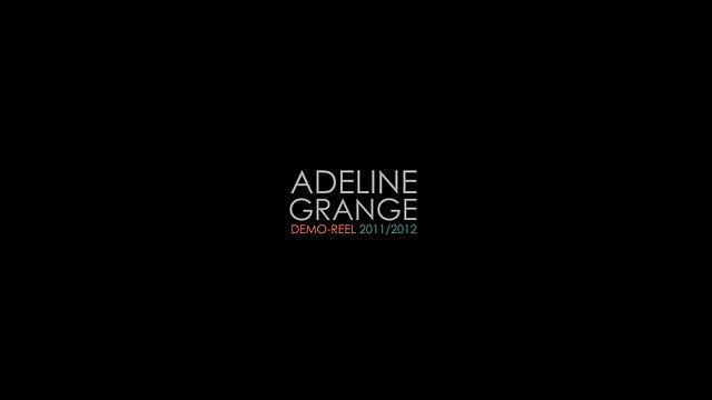 Adeline Grange - Demoreel 2012 - V1