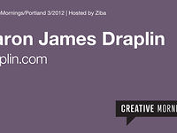 Portland/CreativeMornings - Aaron James Draplin