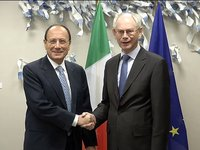 Meeting with the President of the Italian Senate, Renato SCHIFANI