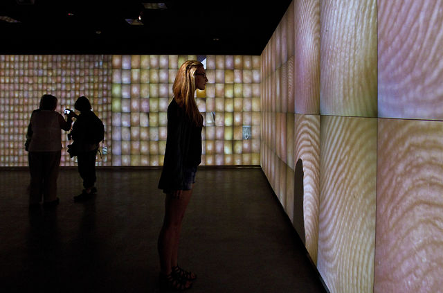 """Pulse Index"" at MCA Sydney (2011) by Rafael Lozano-Hemmer"