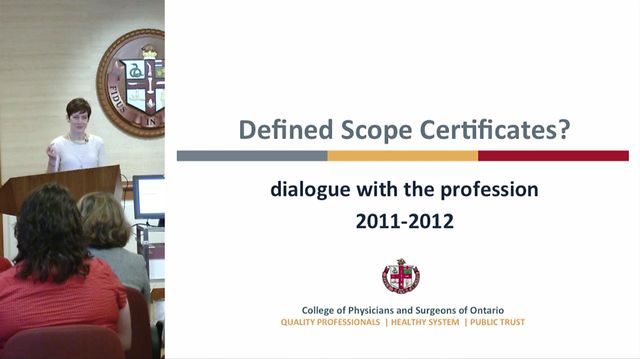 CPSO Defined Scope Certificates