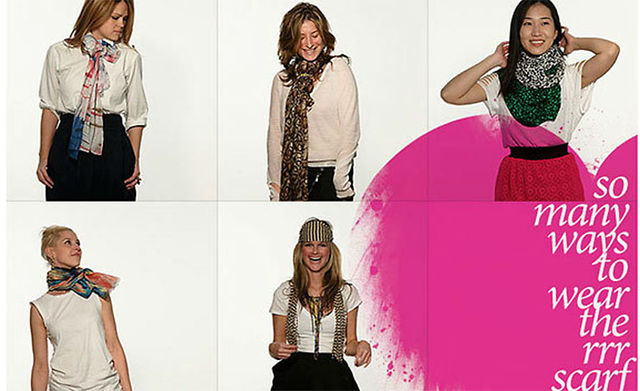 "Rachel Roy ""How to wear scarves"""