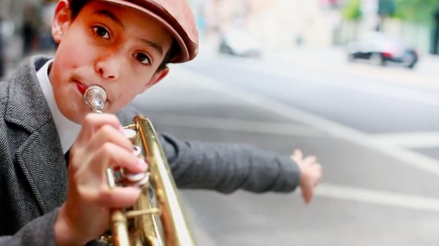 The City Exposed: Trumpet Kid by Mike Kepka #206710