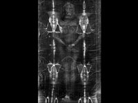 Shroud Of Turin In 3-D Hologram - Face and Body - Both Front And Back