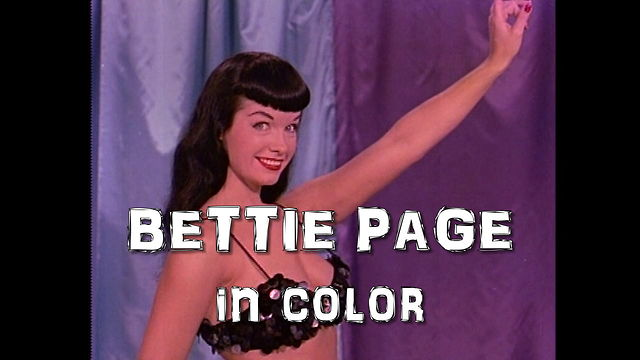 Bettie Page In Color On Vimeo Bettie Page Color