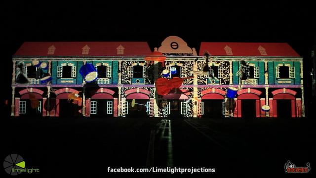 The sunny side of jazz - 3d projection mapping by Limelight Projections and Mrs. Columbo