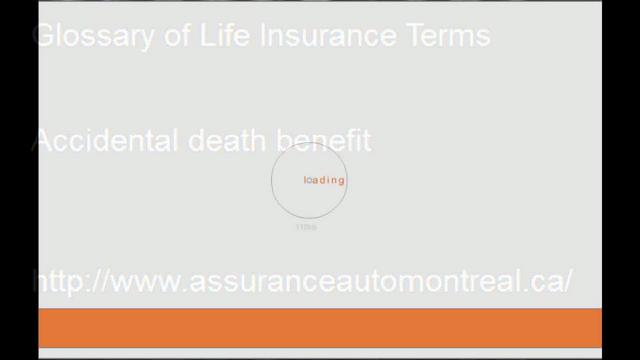 insurance terms and glossary