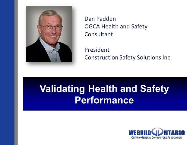 06 Dan Padden - Validating Health & Safety Performance