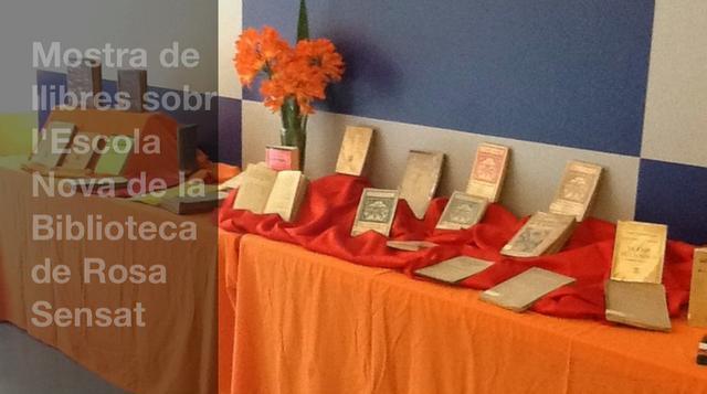 Mostra de Llibres sobre l'Escola Nova