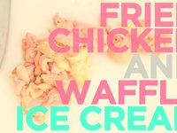 How To Make Fried Chicken And Waffle Ice Cream