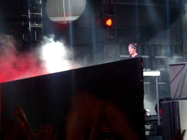 MARTIN SOLVEIG says Hello to the crowd at COACHELLA 2012