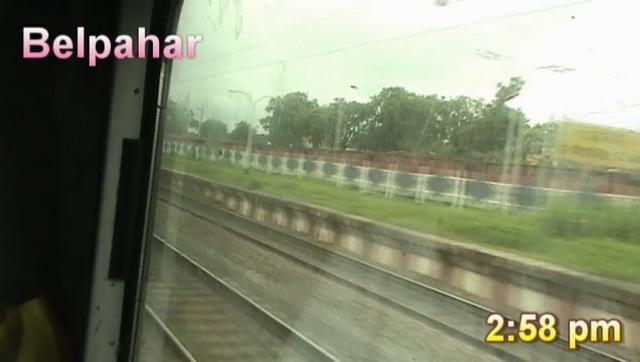 Rushing through Belpahar - Howrah-Mumbai Duronto (Aug. 10, 2011)