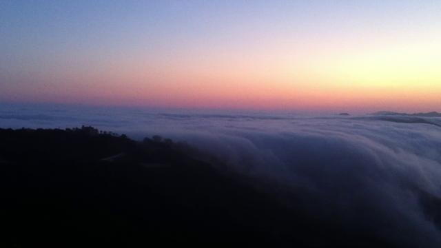 [Image: Cloud waterfall - Malibu]