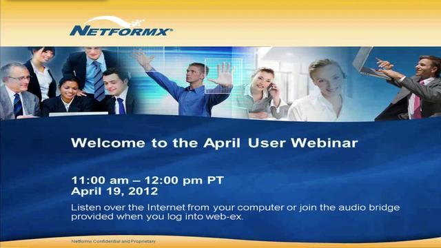 April 2012 User Webinar
