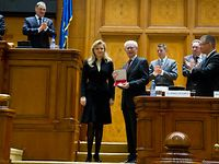 Speech at Romanian Parliament