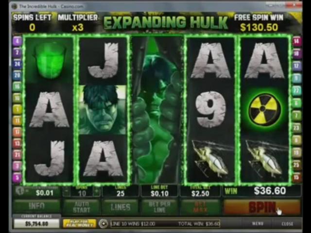 Incredible hulk slot game free