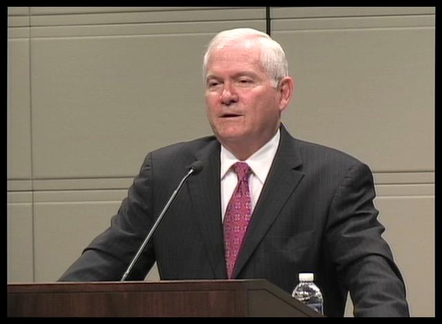 Robert Gates, Wednesday, April 4, 2012