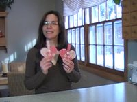 How to make woven fabric heart baskets.