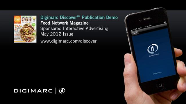Food Network Magazine - Digimarc Discover Example