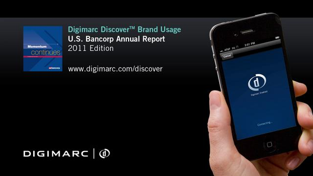 U.S. Bancorp Annual Report - Digimarc Discover Example