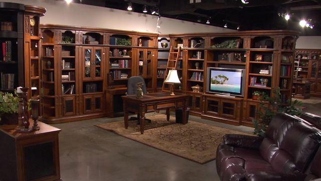 Home office home library furniture peninsula desk partners desk