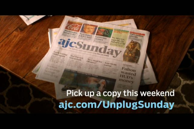 "Atlanta Journal Constitution ""Unplug"""