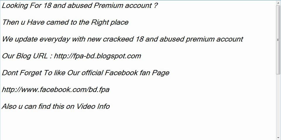 Free 18 and abused premium account by fpa bd blogspot com on vimeo