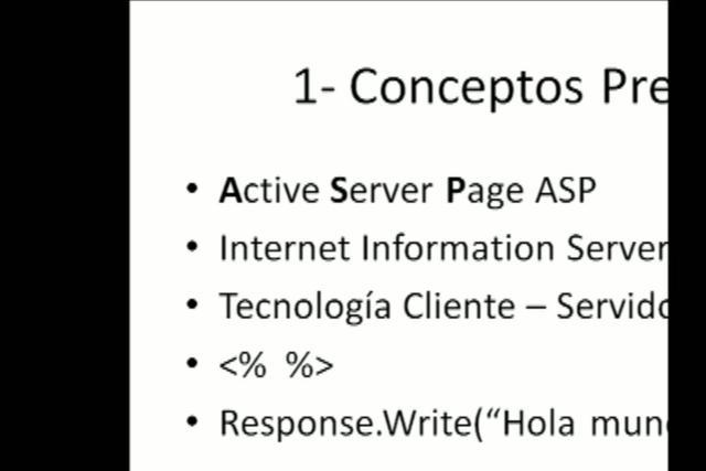 ASP - Curso de ASP y SQL Server part1