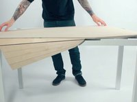 This Computer Desk Puts A Twist On Eliminating Clutter